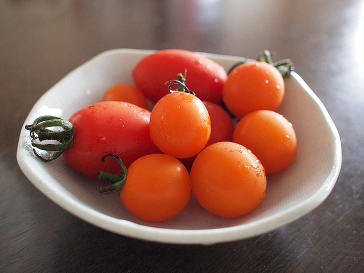 pomidorų, vasaros, gaivus, maisto, daržovės, šviežumo, daržovių