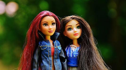 kamarátky, dievča, samica, mladý, tvár, krása, ženskosť