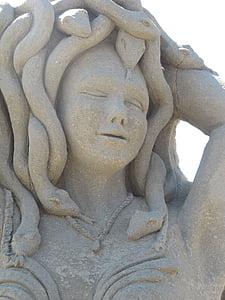 sand sculpture, sand art, art, sculpture, beach, sand, summer