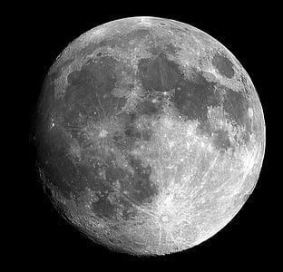 Lluna, brillant, cel, espai, llum de lluna, lunar, l'astronomia