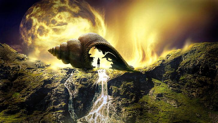 fantasy, landscape, mystical, light, fairytale, composing, fairy tales