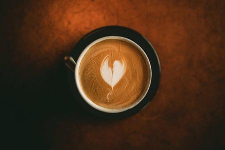 minuman, Sarapan, kafein, cappuccino, Close-up, kopi, minum kopi