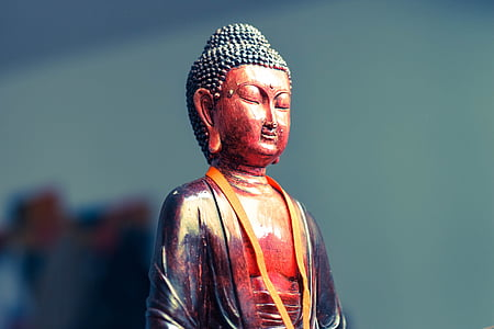 Buda, estàtua, meditació, oriental, est, figureta, Zen