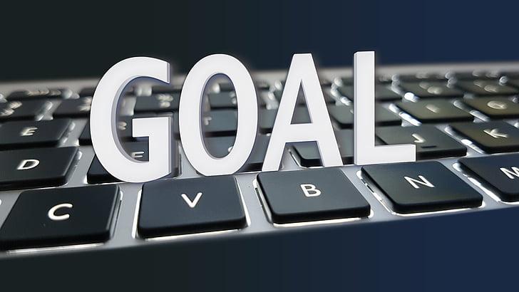 objectiu, entorn, teclat, objectiu, èxit, negoci, estratègia