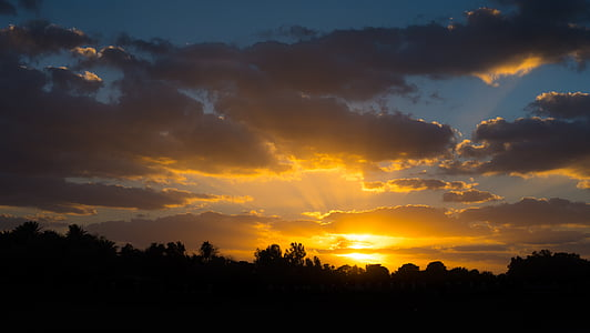 moln, Dawn, skymning, naturen, Utomhus, siluett, Sky