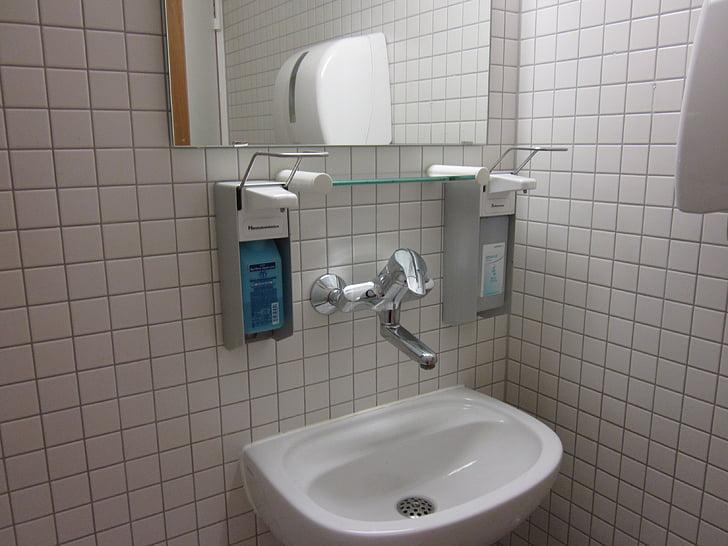 욕실 싱크, 위생, 나쁜, 클리닉