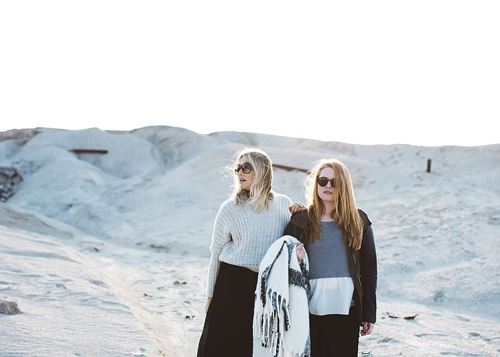 women, beach, piic, sand dunes, female, vacation, people