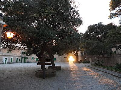 kloster cura, Cura, Algaida, Courtyard, Hof, byggnad, arkitektur