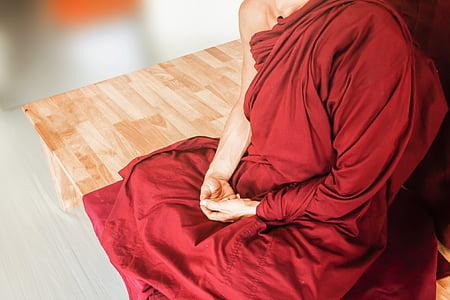 theravada budismi, mediteerima, mõtiskledes käe asend, budism, theravada, Meditatsioon, usuliste