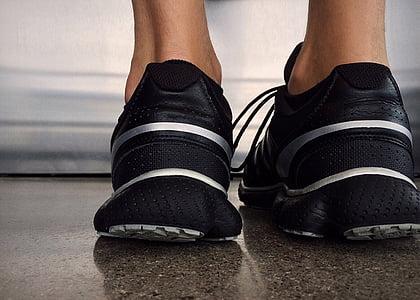 čevlji, tekmovanje v teku, tekaški copati, fitnes, atletske, stopala, tekač