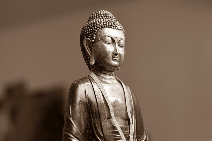 Đức Phật, thiền định, đông, đông, tinh thần, bức tượng
