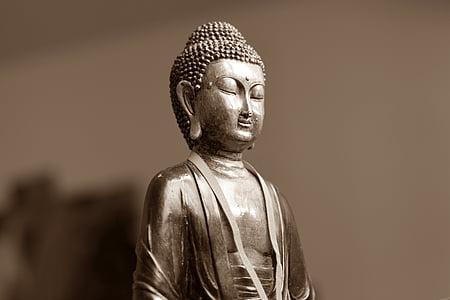 Buda, meditació, est, oriental, espiritual, estàtua