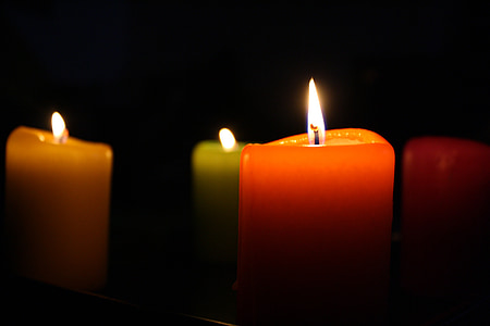 stearinlys, brand, romantisk, stearinlys, flamme, Candlelight, fest