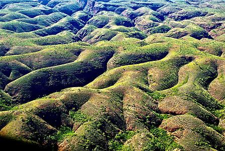 paisatge, turons, rodant, desert, Austràlia, natura, escèniques