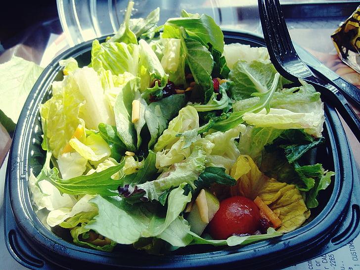 jíst zdravě, jídlo, hlávkový salát, salát, jídlo a pití, zelenina, zdravé stravování
