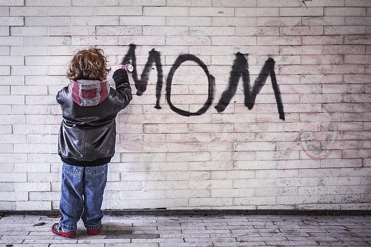 mamma, grafiti, māksla, cilvēki, sienas - veidošanas līdzeklis, Kaukāza tautības