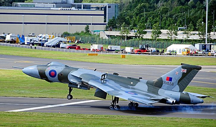 Вулкан, бомбардувальник, Farnborough авіашоу, Великобританія, літак, літак, Старий