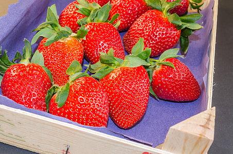 jagode, rdeča, sadje, vitamini, narave, hrane, listov