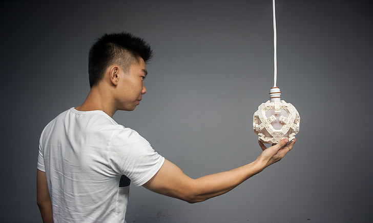 muscle, homme, lampes, l'Asie, modèle, Holding, bras