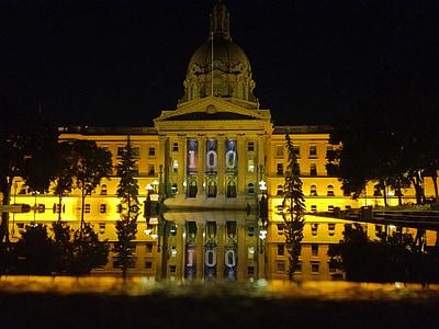 Gesetzgeber, Reflexion, Edmonton, Architektur, Wahrzeichen, Gebäude, Architekturdesign