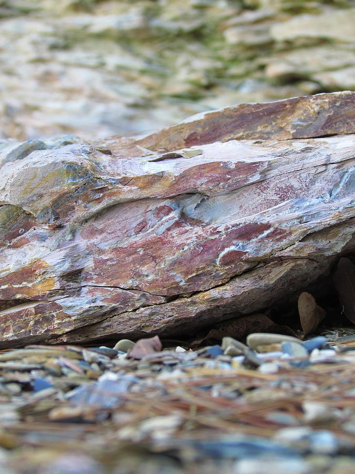 Rock, sjön, Rocks, landskap, Utomhus, naturliga, röd