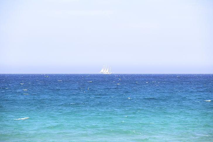 båt, Horisont, havet