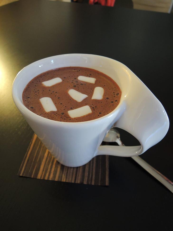 Nachmittags-Tee, Kakao, Getränke, Zuckerwatte, Tasse