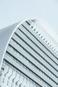 white, concrete, building, image, daytime, architecture building, architecture