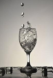 gotetes d'aigua, capturar gotetes d'aigua, Copa, bodegons, vidre, l'aigua, esquitxades