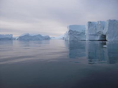 nature, iceberg, glitter, greenland, environment, cold, ocean