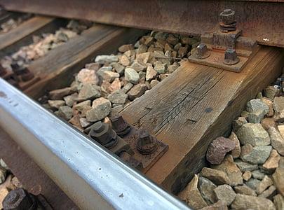 spor, skinnene, jernbanen, jernbane, jernbane spor, transport, tog