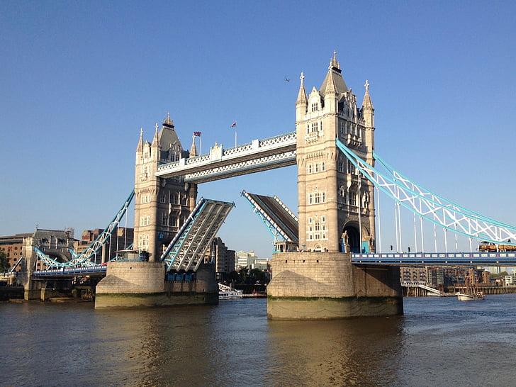 tower, bridge, london, city, river, landmark, architecture