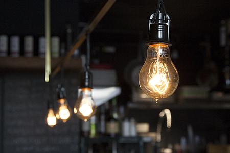 glödlampor, elektriskt ljus, lampor, elektricitet, glödlampa, makt, energi