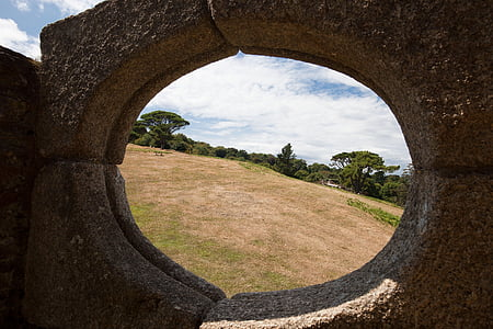 outlook, by looking, oval, park, landscape, vision, view