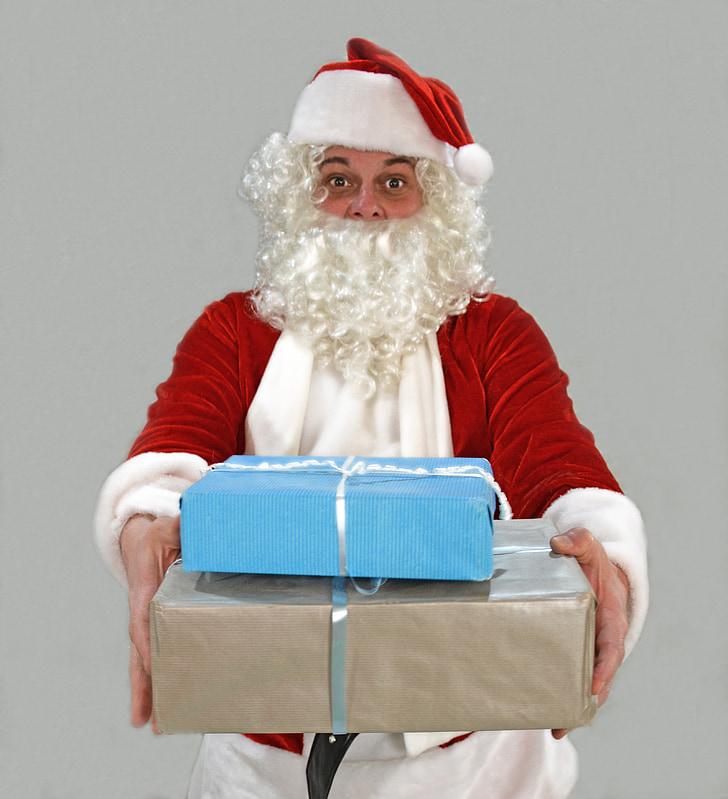 คริสมาสต์, คริสต์มาส, ซานตา, นิโคลัส, ซานตาคลอส, ของขวัญ, ให้ของขวัญ