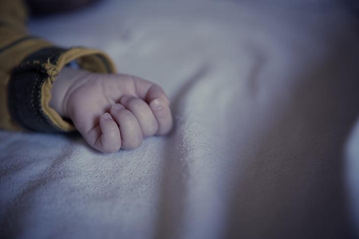 baby, kind, vingers, hand