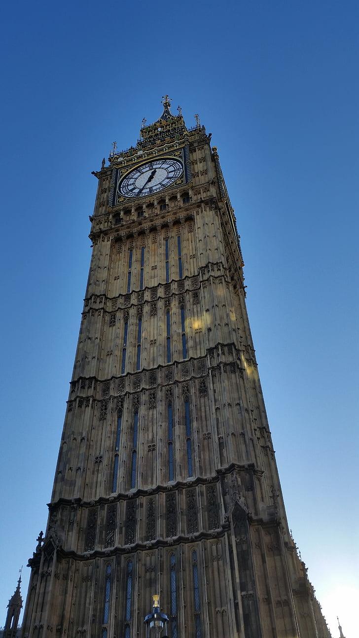 Big ben, parlamentin, Englanti, Lontoo, Iso-Britannia, Britannian, arkkitehtuuri