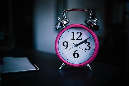 modinātājs, pulkstenis, makro, numuri, laiks, skatīties, pulksteni seju