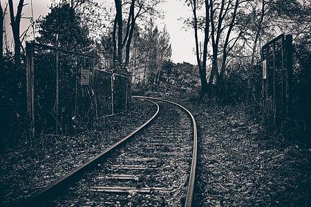 lost places, railway, gleise, railway tracks, weathered, seemed, old