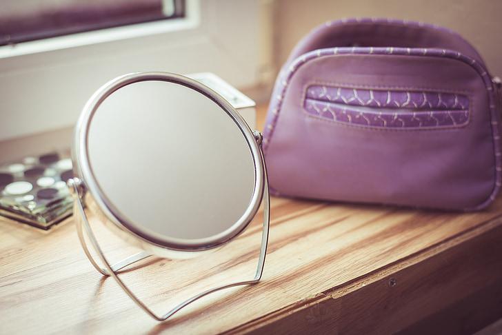 zrkadlo, krása, kozmetička, kozmetiky, osobné príslušenstvo, móda