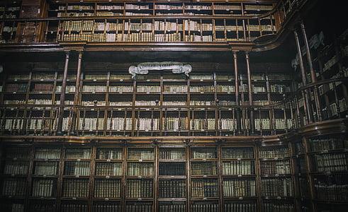 arhitektūra, grāmatas, grāmatas, ēkas, iekšpusē, bibliotēka, grāmatu plaukts