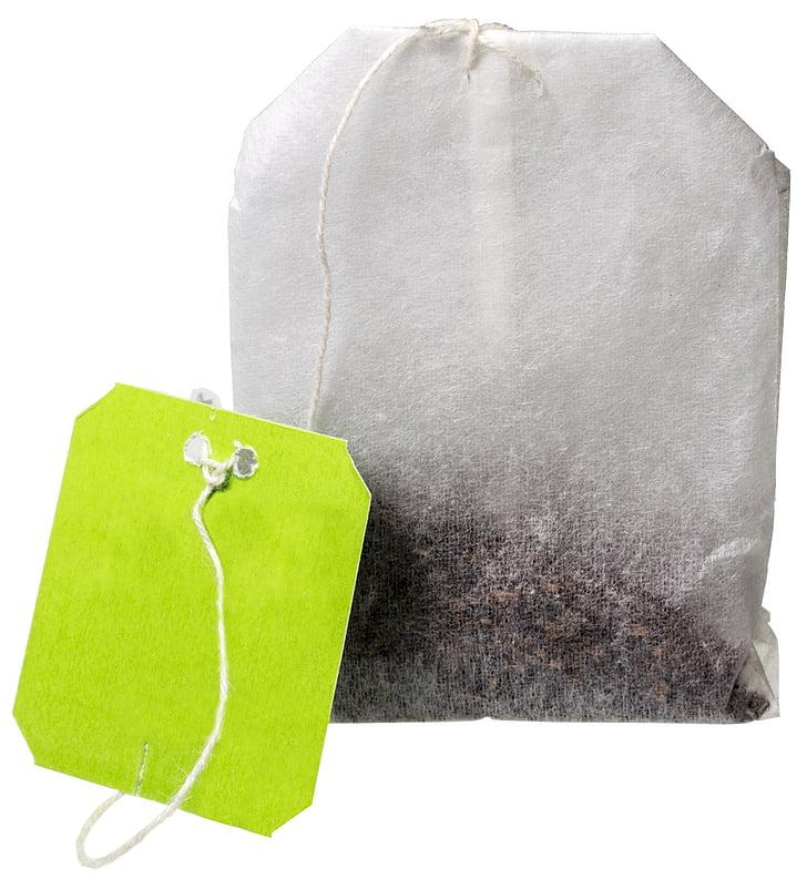 gray, tea, bag, Teabag, Tea, Bag, Drink, Natural