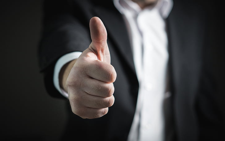 businessman, thumbs up, success, hand, business, man, giving