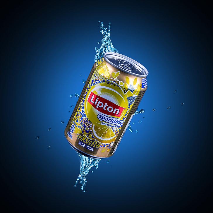 Lipton, gel, te, composició, beguda, aliments, calenta