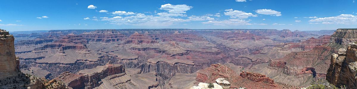 Gran Canyó, paisatge, panoràmica, muntanyes, Amèrica, EUA