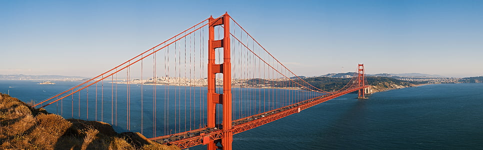 Panorama, Californien, golden gate bridge, Bridge, San francisco, os, rejse