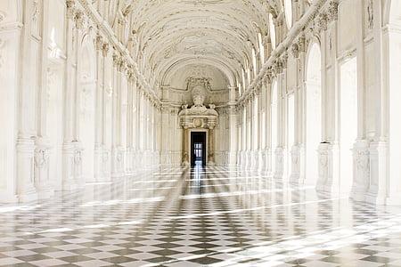 Torino, Palau Reial, Piemonte, arquitectura, arc, columna arquitectònica, renom