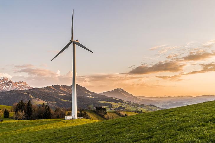 vetrne turbine, vetrna energija, okolju prijazno, energije, proizvodnja električne energije, okoljske tehnologije, proizvodnja električne energije