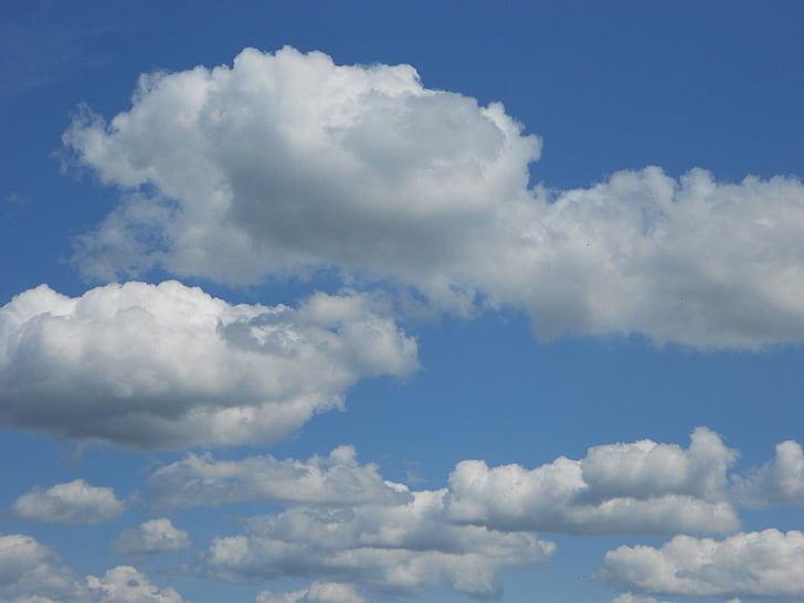 pilvet, sininen taivas, pilvien muodostumista