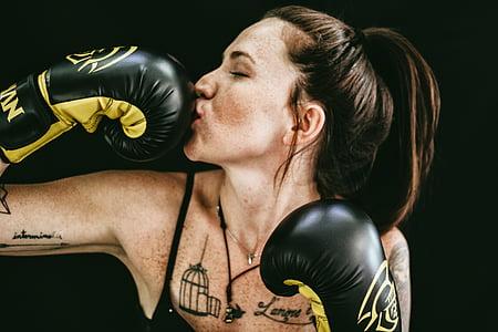 actiu, adult, l'agressió, atleta, Batalla, art corporal, boxejador
